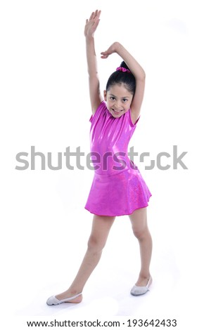 23c76a0ff Latin Cute Young Little Girl Putting Stock Photo (Edit Now ...