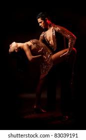 Latin dance couple