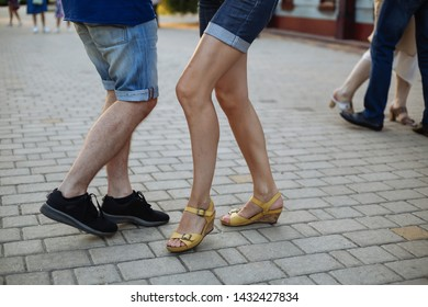 Latin dancers organize a public outdoor dance gathering at the park of Maxim Gorky and practice their salsa, bachata, kizomba and zouk dancing on a beautiful day