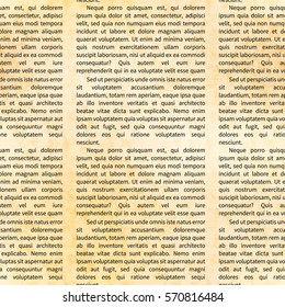 A lot of latin text on old textured paper, abstract seamless pattern
