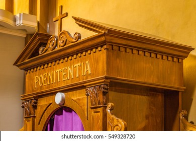 the Latin word poenitentia meaning repentance