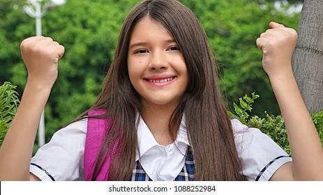 Latina Girl Student Winner
