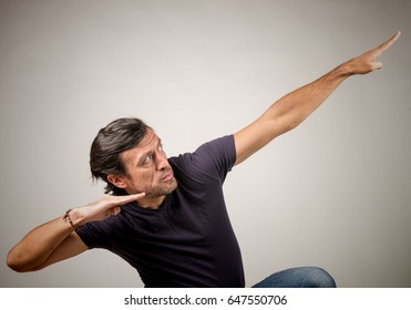 Latino male posing in a sportive way