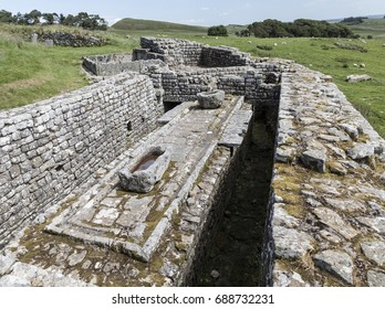 Latrine at Housesteads Roman Fort on Hadrians Wall