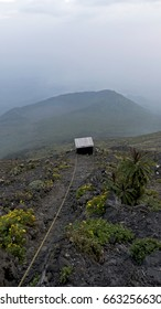 Latrine on the slope of Nyiragongo Volcano, Democratic Republic of Congo