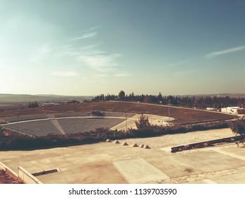 LATRUN, ISRAEL - MARCH 13, 2018: Amphitheater in Latrun, Israel.