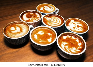 latte art in coffee decoration
