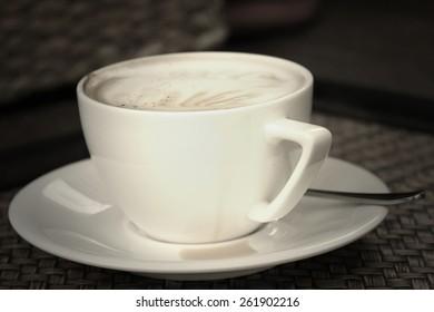 latte art coffee vintage