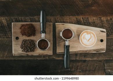 Latte deconstructed bar