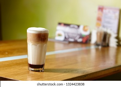 latte macchiato with cinnamon