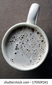 Latte in a mug