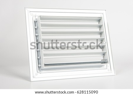 Lattice Louver Ventilation Framing Ventilation Window Stock Photo ...