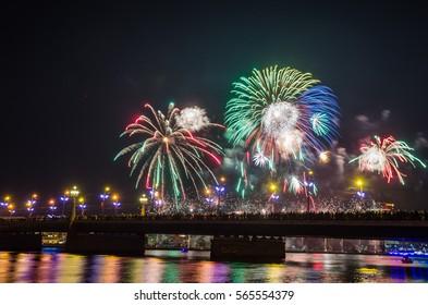 Latvian fireworks show