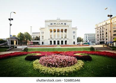 Latvian National Opera House in Summer
