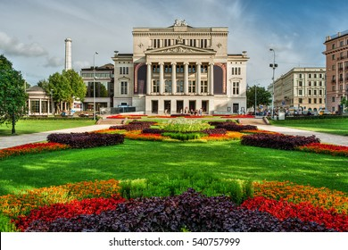 Latvian National Opera in Riga (Latvia), HDR-technique