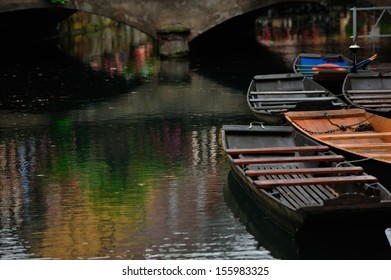 Lauch river with boats in Colmar town in Alsace, France