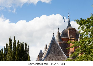 LAUDER, SCOTLAND - JUNE 18:  The ogee roof and turreted towers of Thirlestane Castle in Lauder, Scotland are pictured on June 18, 2017.