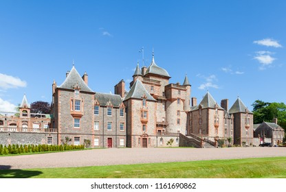 LAUDER, SCOTLAND - JUNE 18:  Thirlestane Castle in Lauder, Scotland is pictured on June 18, 2017.  The 16th century castle, a restored country home, is set in the Scottish Borders.