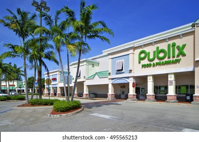 LAUDERHILL - OCTOBER 8: Publix is a supermarket founded in 1930 in Lakeland FL by George Jenkins October 8, 2016 in Lauderhill FL, USA