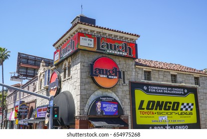 The Laugh Factory at Sunset Boulevard in Los Angeles - LOS ANGELES / CALIFORNIA - APRIL 20, 2017