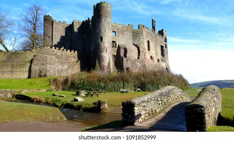 Laugharne Castle, South Wales in early springtime