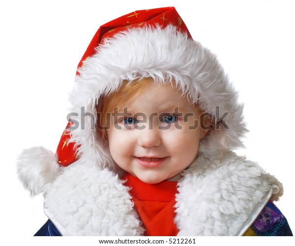 laughing baby in red hat