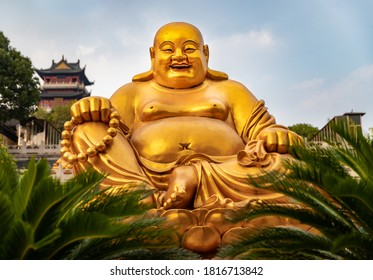 Laughing Buddha at Temple in China