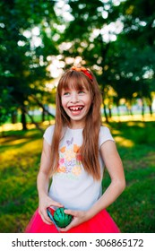 laughing girl, cheerful portrait.