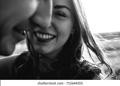 laughing girl and guy