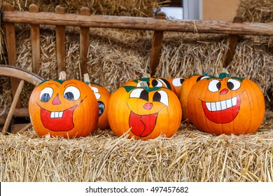Laughing Halloween Pumpkins