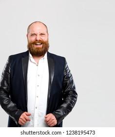 Laughing man with ginger beard