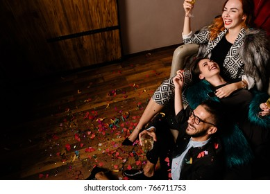 Laughter attack at a party
