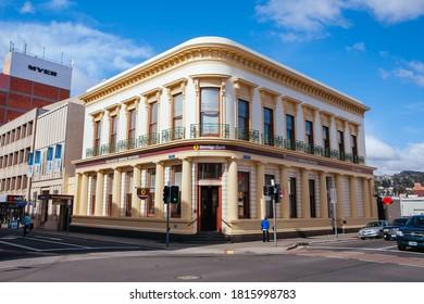 Launceston, Australia - September 30th 2009: Historic and beautiful Bendigo Bank building in Launceston CBD in Tasmania Australia