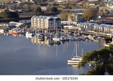 Launceston - reflections at Home Point on the Tamar River, Tasmania, Australia