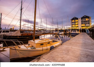 Launceston seaport in beautiful twilight sky, Launceston, Tasmania, Australia