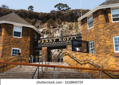 Launceston, Tasmania - January 3rd 2020: The entrance sign to The Penny Royal, Launceston.