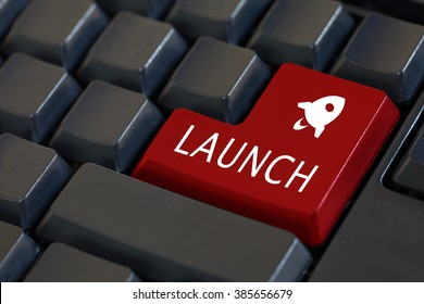 'Launch' and its icon on enter keyboard