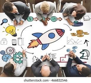 Launch Startup Goals Vision Mission Concept