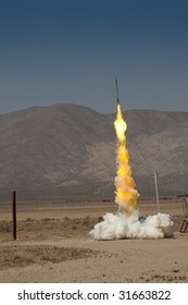 Launch of a Zinc Sulfur Rocket