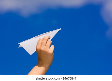 launching a paper plane