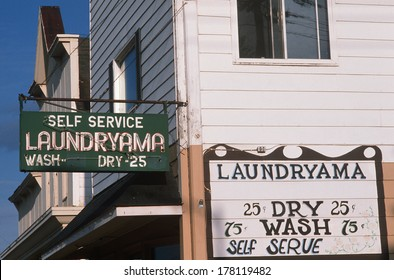 Laundromat in a small town, Washburn, WI
