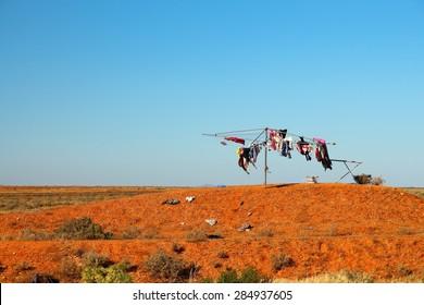 Laundry in Australian outback