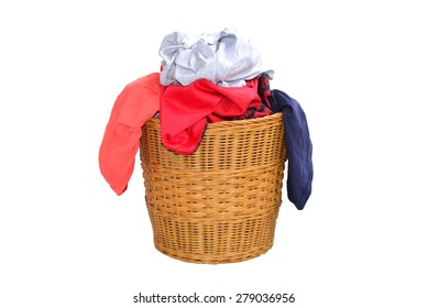 Laundry Basket Filled With Clothing