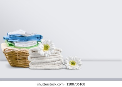 Laundry Basket with towels