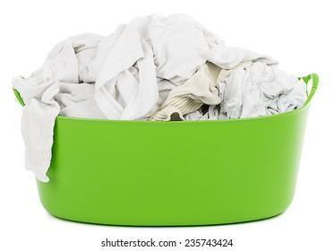Laundry Basket with Whites