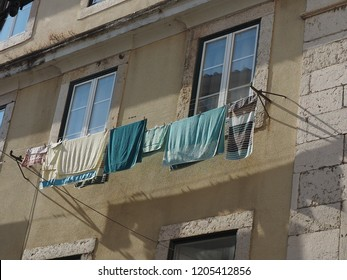 laundry for drying up in the house