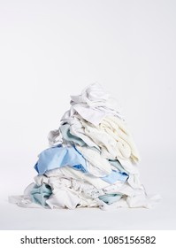 Laundry heap on the white background