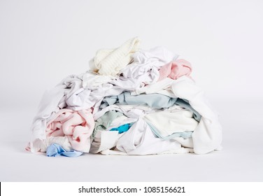Laundry heap on the white background.