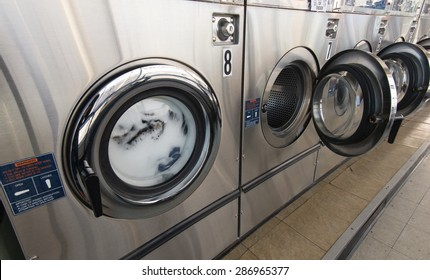Laundry machine in the store