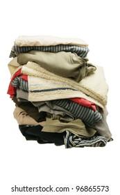 Laundry Pile  on White Background